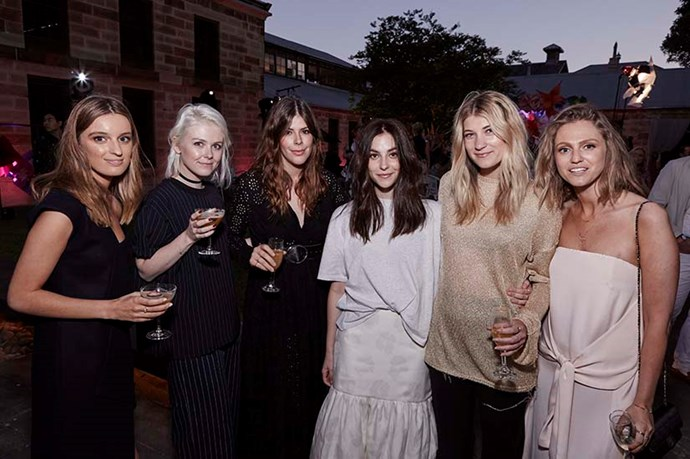 Georgia Curry (centre), winner of the ELLE Emerging Designer Award at this year's ELLE Style Awards.