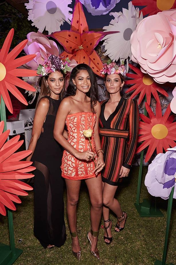 Chanel Iman (centre) at the ELLE Style Awards.