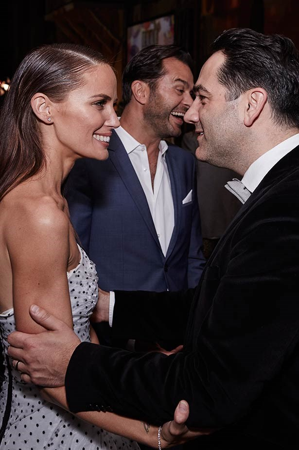 """Jodi Anasta and Michael """"Wippa"""" Wipfli at the ELLE Style Awards."""