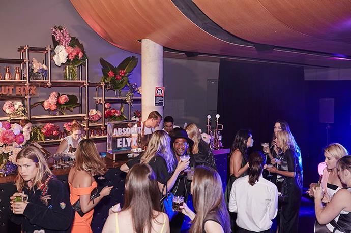 The Absolut Elyx bar.