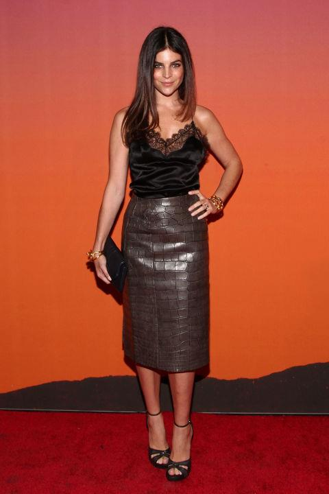 """<strong>JULIA RESTOIN ROITFELD</strong> <br> <br> """"Even on the red carpet, French celebrities keep it minimal. Think of Charlotte Gainsbourg – the look can be quite undone. Keep your palette simple: French women are into neutrals – a lot of beige, grey, navy, black and white. If a French woman wears jeans, it's never with flats always heels.The French like to play the intellectual card; they don't like to be over-sexy. The sexiness comes from the way they walk and hold themselves."""" - to Matches Fashion's <em><a href=""""http://www.vogue.com.au/fashion/trends/galleries/julia+restoin+roitfelds+rules+for+french+dressing+in+matchesfashioncom+magazine,26004?pos=5"""">The Style Report</a></em>"""