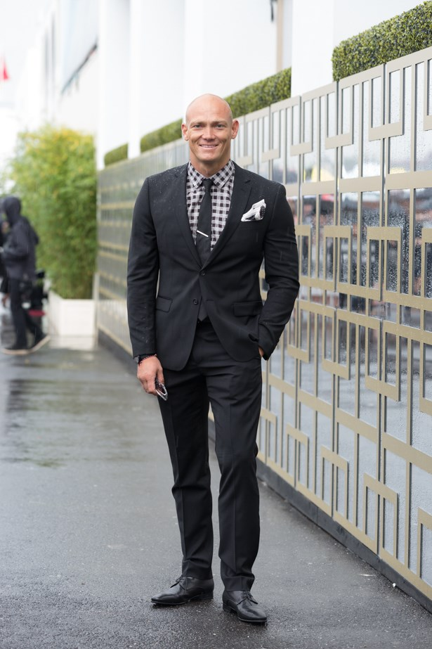 Name: Michael Klim<br><br> Outfit: Aquila<br><br> Race day: Derby Day 2015 <br><br> Location: Melbourne <br><br>