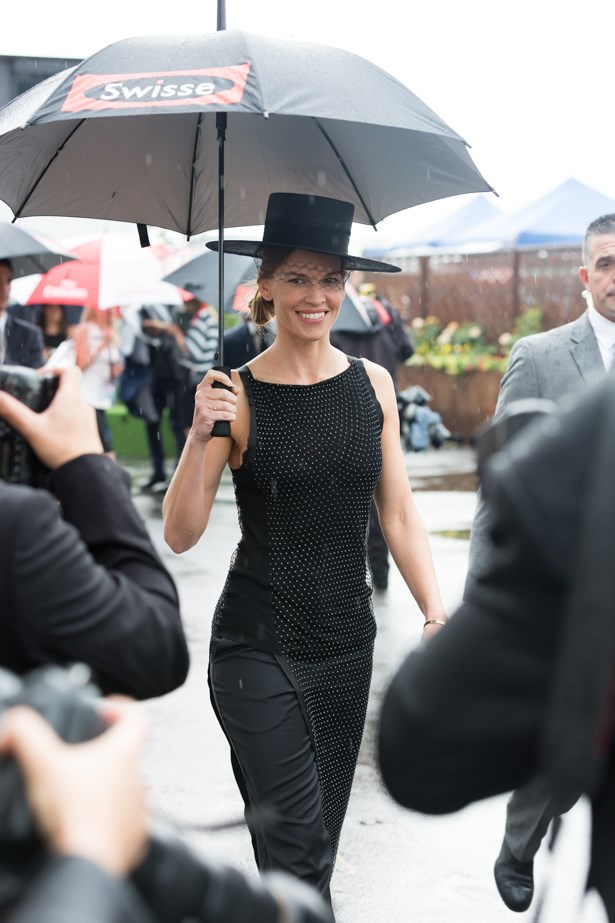 Name: Hilary Swank<br><br> Race day: Derby Day 2015 <br><br> Location: Melbourne <br><br>