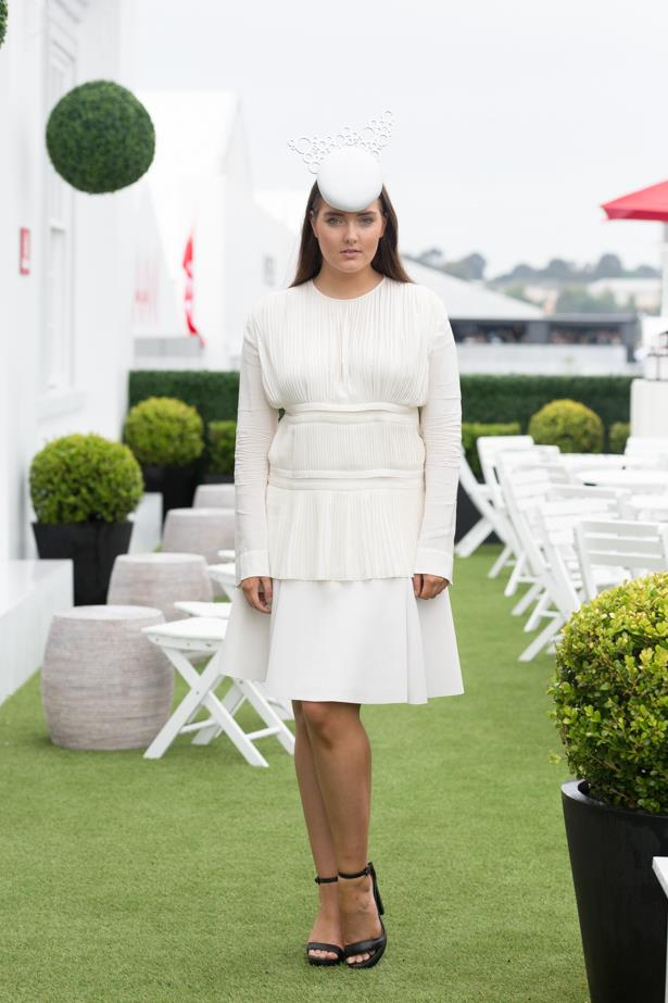 Name: Gemma Watts <br><br> Outfit: Marni dress, Danica Erard millinery Race day: Derby Day 2015 Location: Melbourne