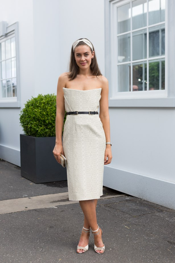 Name: Cassandra Greskie <br><br> Outfit: Scanlan and Theodore dress<br><br> Race day: Derby Day 2015 <br><br> Location: Melbourne