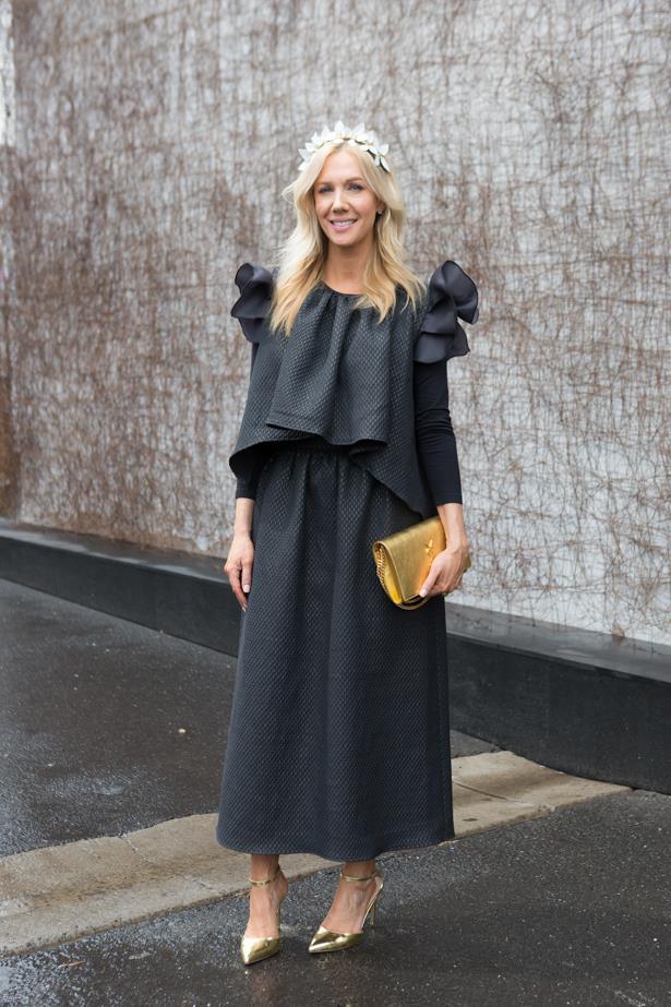 Name: Megan Hess<br><br> Outfit: dress Poca, millinery Vickoria Novak<br><br> Race day: Derby Day 2015 <br><br> Location: Melbourne