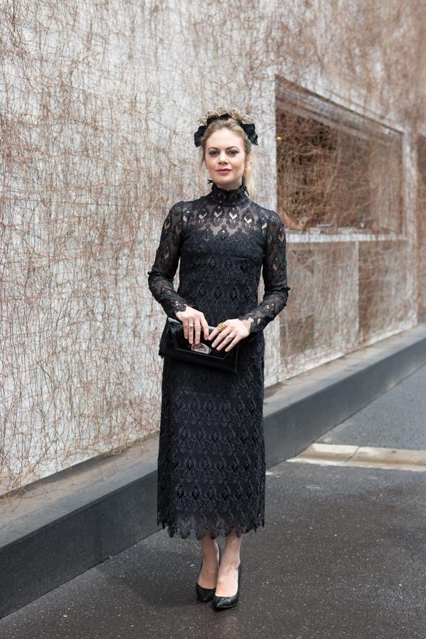 Name: Jess Dempsey<br><br> Outfit:dress Dolce & Gabbana, millinery Danika Erard <br><br> Race day: Derby Day 2015 <br><br> Location: Melbourne