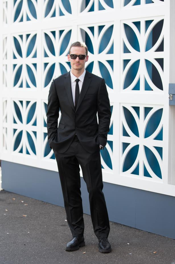Name: Dion Lee<br><br> Outfit: Zegna suit <br><br> Race day: Derby Day 2015 <br><br> Location: Melbourne