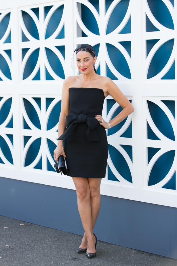 Name: Terry Biviano<br><br> Outfit: millinery Suzy O'rourke, Victoria Beckham dress, Chanel hand bag, Terry Biviano shoes <br><br> Race day: Derby Day 2015 <br><br> Location: Melbourne