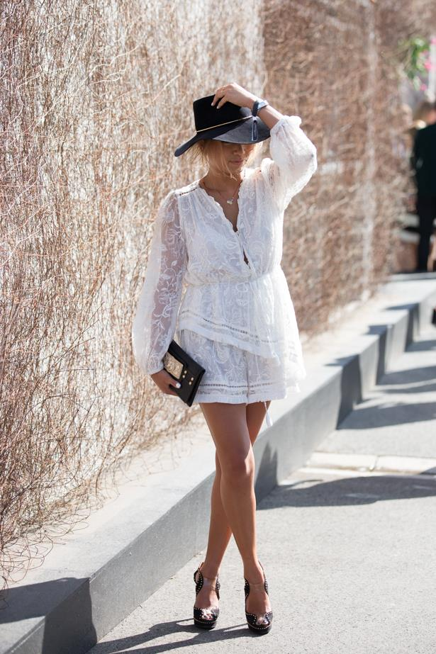 Name: Anna Riches<br><br> Outfit: Zimmermann dress, Hatmaker hat<br><br> Race day: Derby Day 2015 <br><br> Location: Melbourne