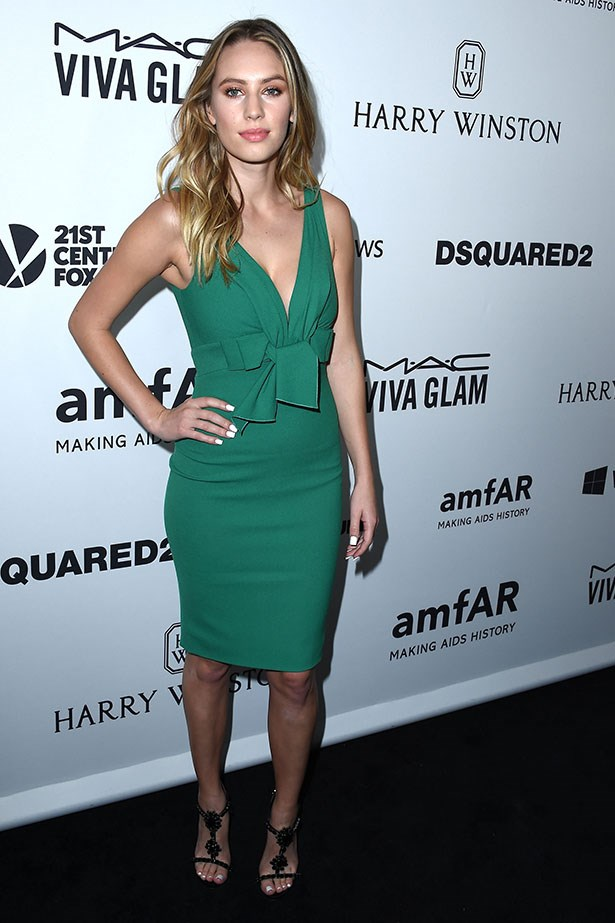 Dylan Penn attends the AmfAR Inspiration Gala in LA.