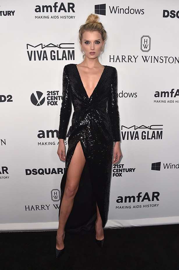 Lily Donaldson attends the AmfAR Inspiration Gala in LA.