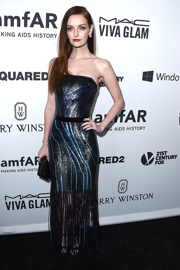 Lydia Hearst attends the AmfAR Inspiration Gala in LA.