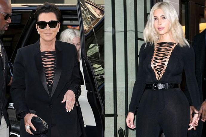 6 Times Kim Kardashian And Kris Jenner Wore The Same Thing