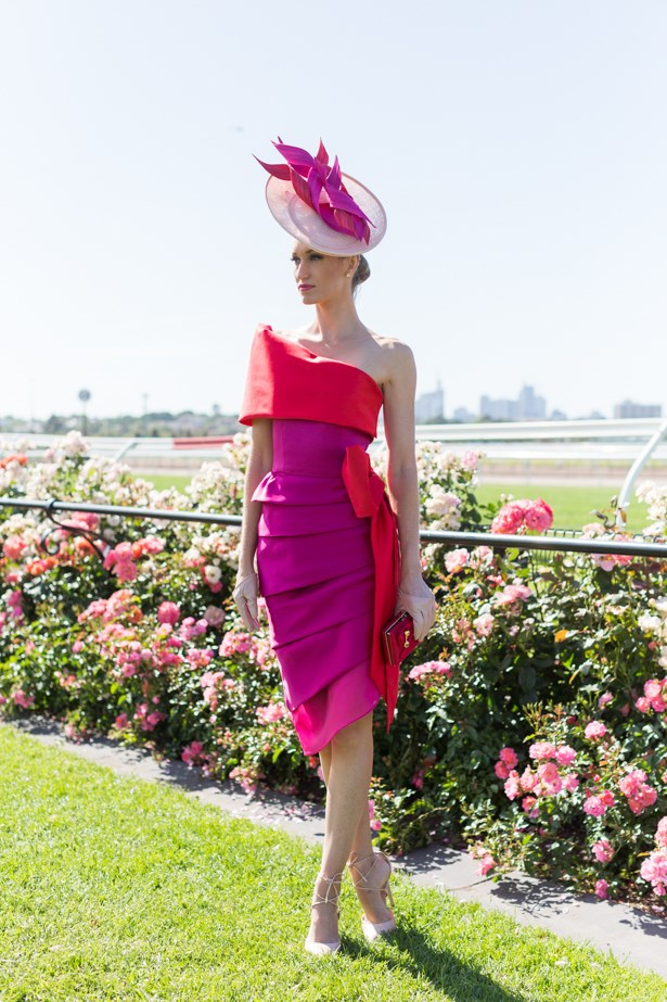 Name: Lindsay Ridings <br><br> Outfit: Hat Marilyn Van den berg, Dress bespoke - the liftstyle collaboration, shoes Urban Sole<br><br> Race day: Melbourne Cup 2015 <br><br> Location: Flemington, Melbourne