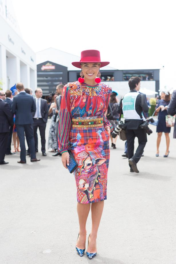 Name: Ashley Hart<br><br> Outfit: Stella Jean top and skirt with Christian Louboutin clutch and shoes. <br><br> Race day: Melbourne Cup 2015 <br><br> Location: Flemington, Melbourne<br><br>