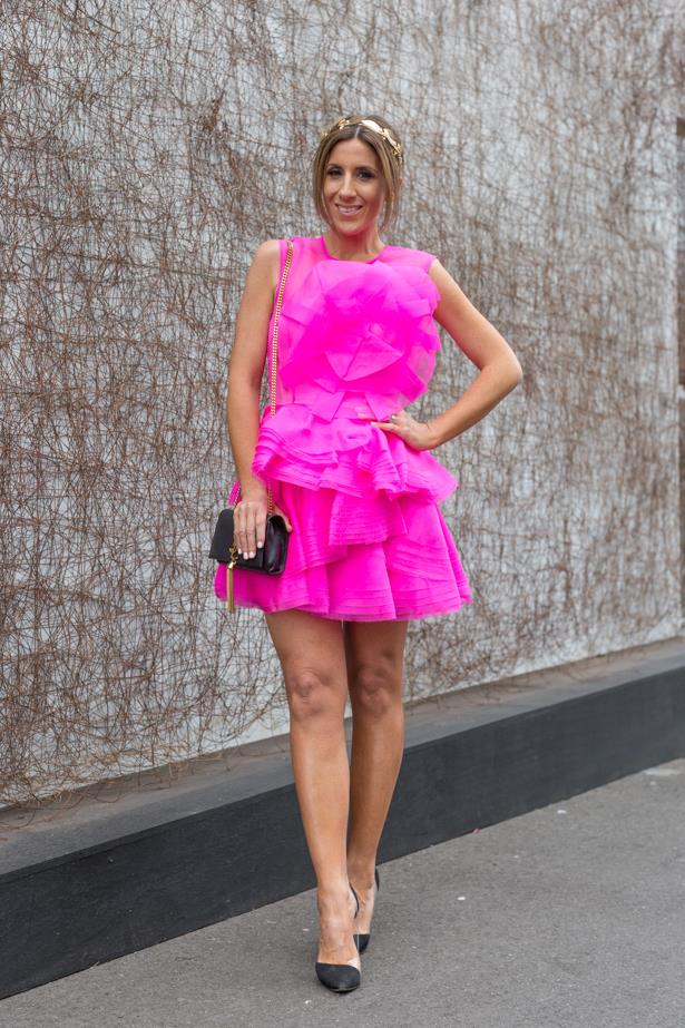 Name: Lana Wilkinson<br><br> Outfit: Alex Perry dress, ASOS headpiece, tony Bianco shoes and Saint Laurent clutch <br><br> Race day: Melbourne Cup 2015 <br><br> Location: Flemington, Melbourne<br><br>