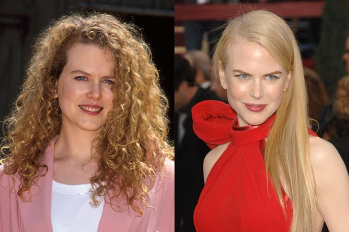 Nicole Kidman used to rock her red curls out, but nowadays she wears her hair straight.