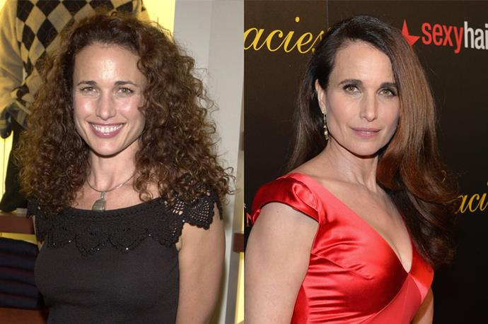 Andie MacDowell is also a card-carrying member of the curls club.