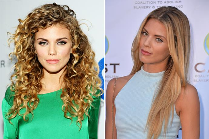 AnnaLynne McCord rocks her curls regularly, but every now and then she goes straight.
