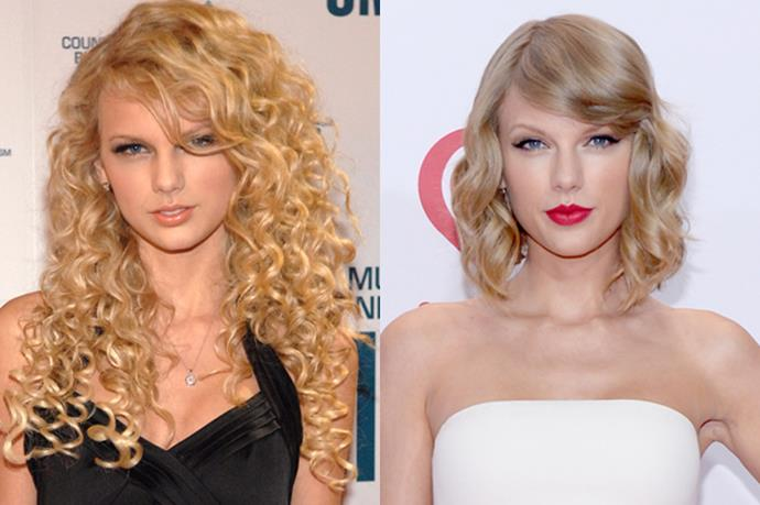 Taylor Swift's chic bob has been in the spotlight so long, we actually forgot that she's naturally curly!