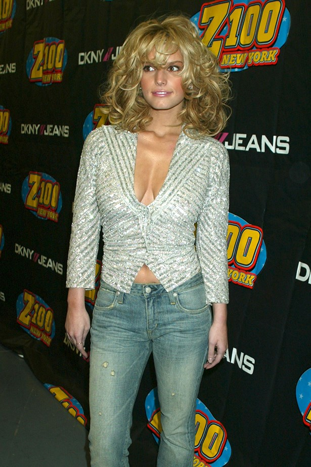 You weren't afraid of a little volume in your hair to set off your tiny jeans. Image: Getty