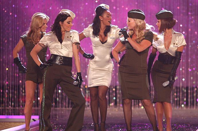 If there was any stage big enough to host the Spice Girls reunion it was  Victoria's Secret's.