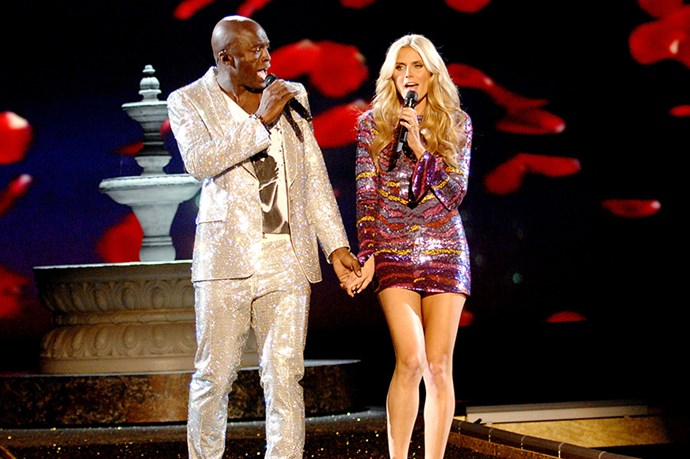 Seal and wife/Angel, Heidi Klum, took to the stage in 2007 to perform a cringey duet, 'Wedding Day'.