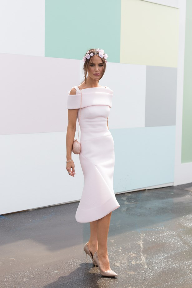 Name: Jodi Anasta<br><br> Outfit: Toni Maticevski <br><br> Race day: Oaks Day 2015 <br><br> Location: Flemington, Melbourne