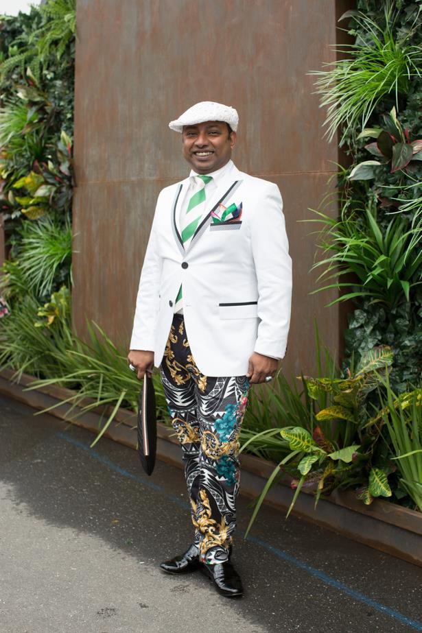 Name: Shiva Singam<br><br> Race day: Oaks Day 2015 <br><br> Location: Flemington, Melbourne