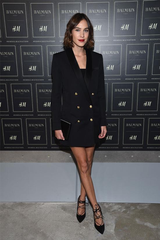 Alexa Chung at the Balmain X H&M Collection Launch