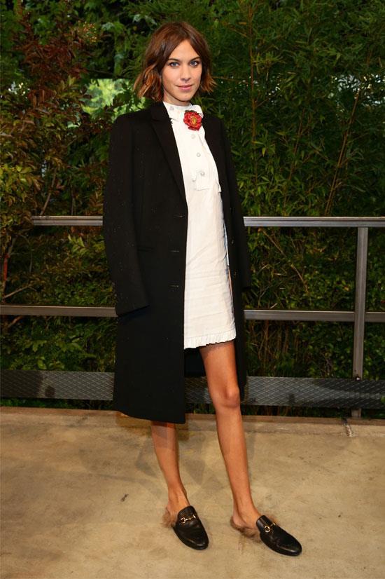 Alexa Chung at the Gucci SS16 Show during Milan Fashion Week