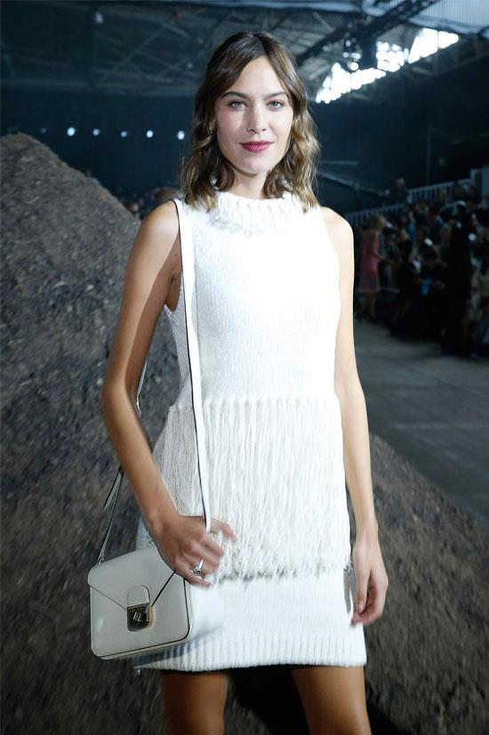 Alexa Chung at the 3.1 Phillip Lim SS16 Show during New York Fashion Week