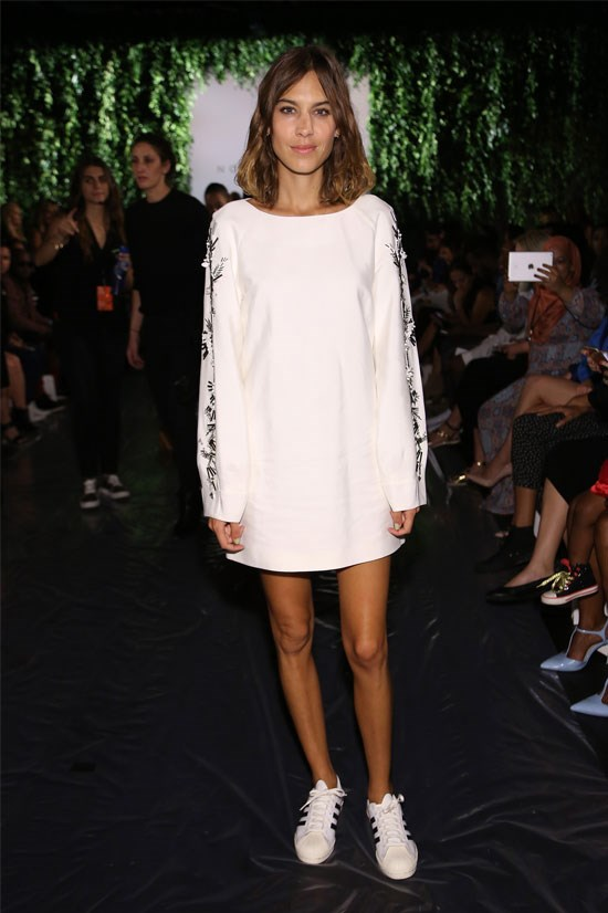 Alexa Chung at the Noon by Noor SS16 Show during New York Fashion Week
