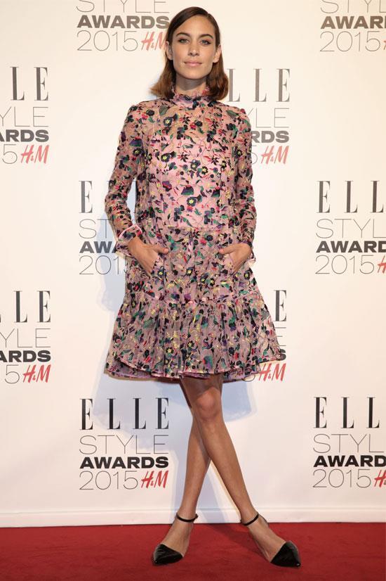 Alexa Chung at the 2015 ELLE UK Style Awards