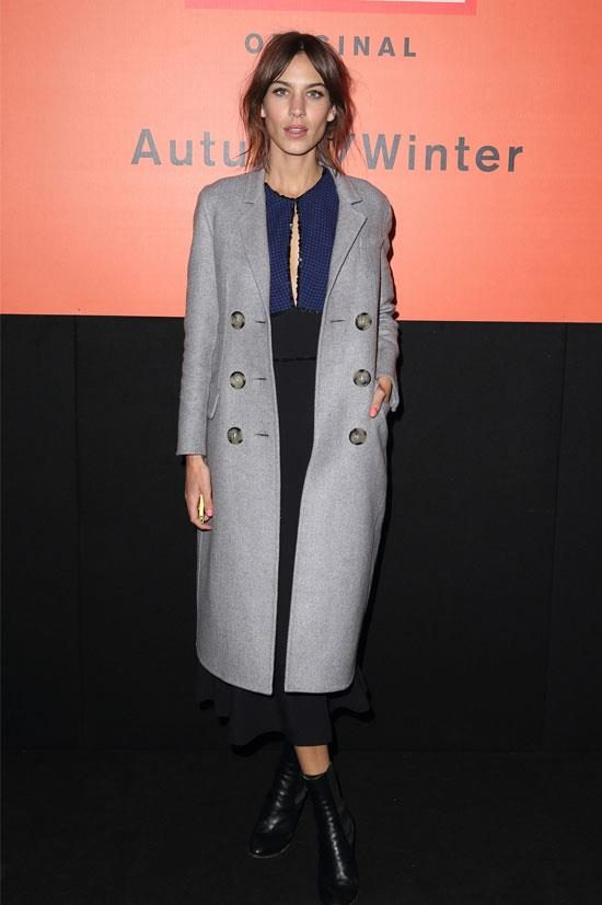 Alexa Chung at the Hunter Original Show AW15 during London Fashion Week