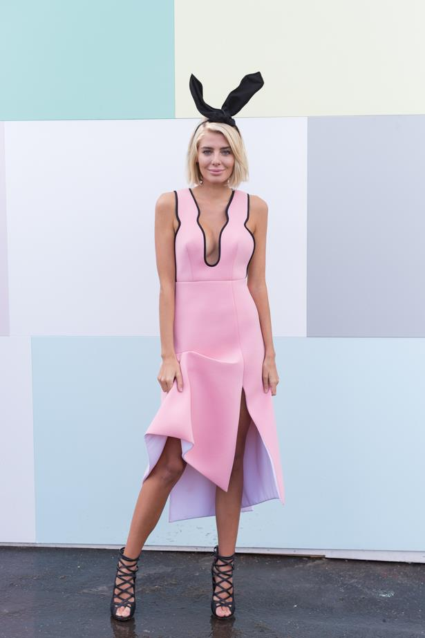 Name: Rochelle Fox<br><br> Outfit: Alice McCall dress and millinery, shoes Tony Bianco<br><br> Race day: Oaks Day 2015 <br><br> Location: Flemington, Melbourne