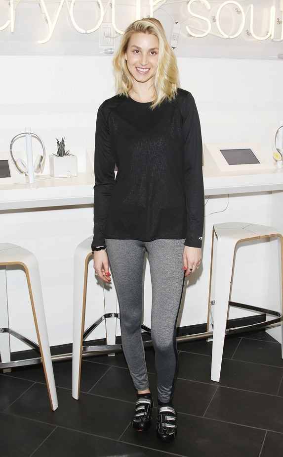 Whitney Port still looking stylist at Soul Cycle.