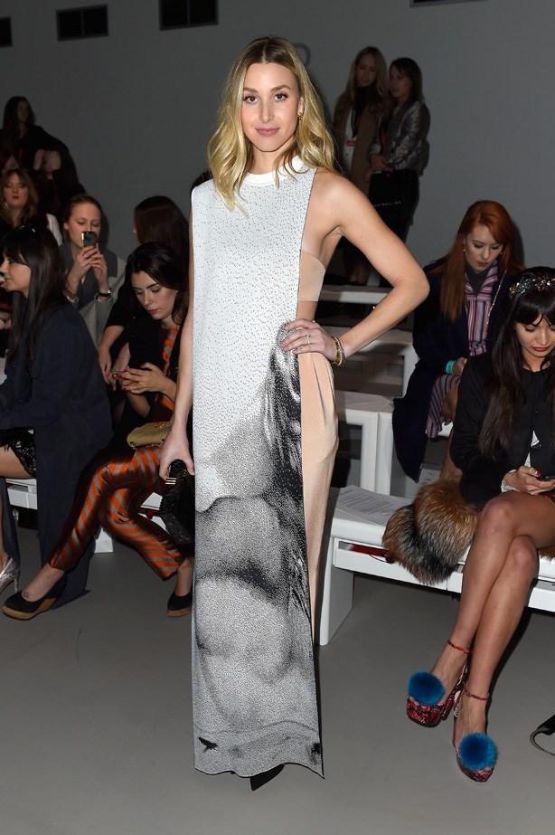 Whitney Port attends London Fashion Week 2014.