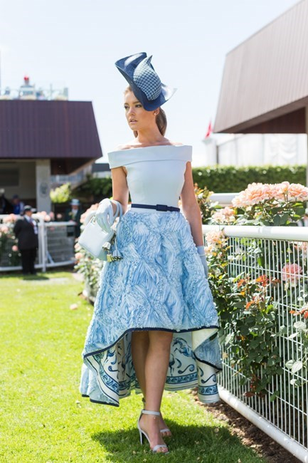 Name: Georgia Gibbs Outfit: Race day: Derby Day 2015 Location: Flemington, Melbourne