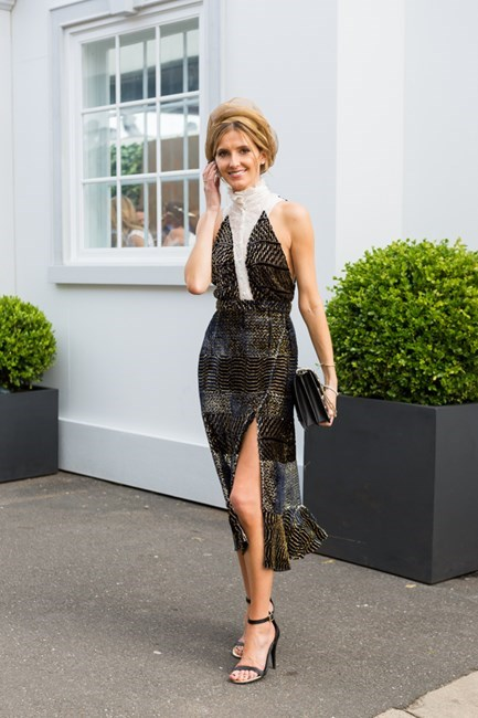 Name: Kate Waterhouse Outfit: Altuzarra Studios dress, Hatmaker hat Race day: Melbourne Cup 2015 Location: Flemington, Melbourne