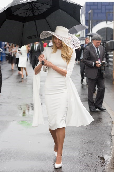Name: Jennifer Hawkins Race day: Derby Day 2015 Location: Melbourne