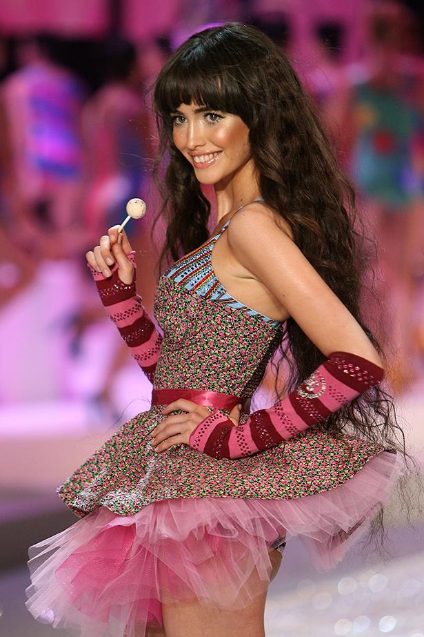 <strong>Sarah Stephens</strong> took a trip down the runway for VS in 2008.