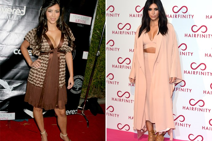 Back when Kim K was just Paris Hilton's assistant-slash-wardrobe-cleaner, her style was a little bit muted and safe. Now that Kim K is <em>Kim K</em>, she's anything but.