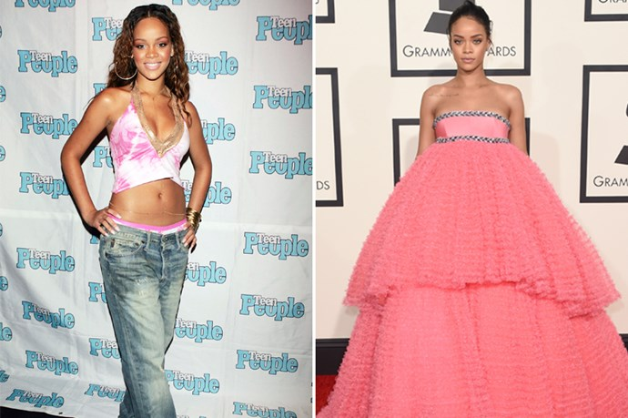 From hip-hop ingénue to queen of the industry. Rihanna's once naive style quickly evolved to match her new lifestyle.