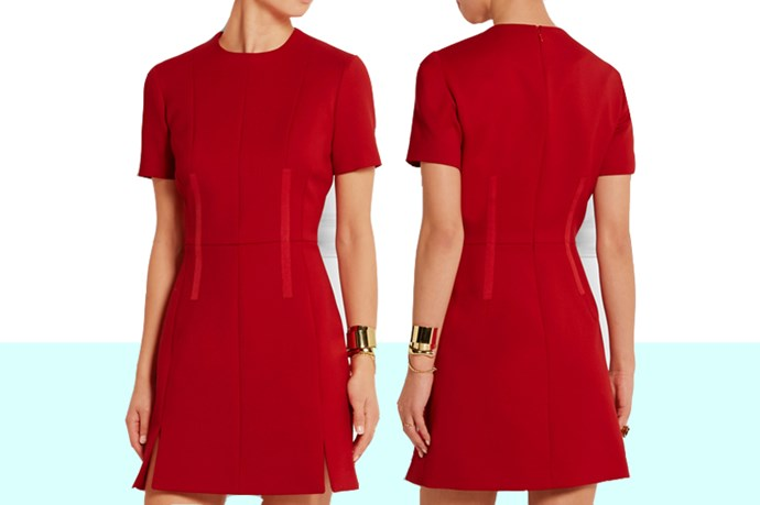 "You know that feeling of dread you get when you read a wedding invite that says 'Festive'. Should you wear red? Green? Some tinsel around your waist? Fret not. This sweet <a href=""http://www.net-a-porter.com/au/en/product/607883/carven/wool-twill-mini-dress "">Carven dress</a> is a good halfway point between 'I'm meeting your damn festive dress code' and 'I'm wearing this to work drinks next week'."