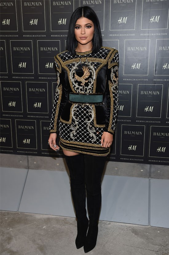 Kylie Jenner attends the Balmain x H&M Collection Launch, October 2015.