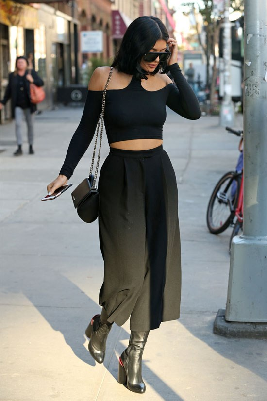 Kylie rocking the culotte trend.