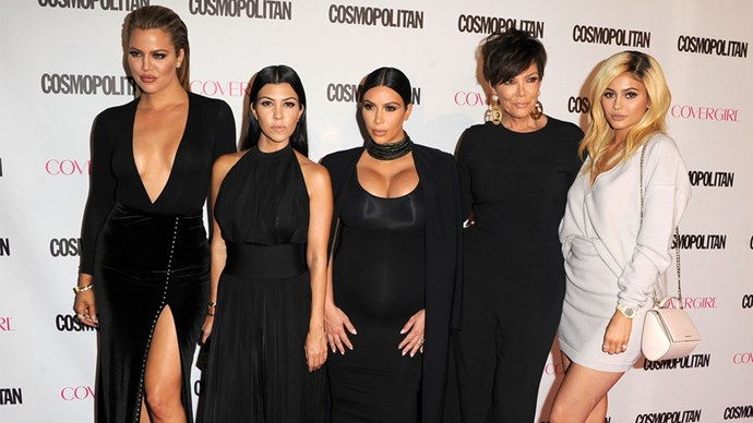 Kylie looking fierce with the Kardashian Klan at Cosmopolitan Magazine's 50th Birthday celebration.