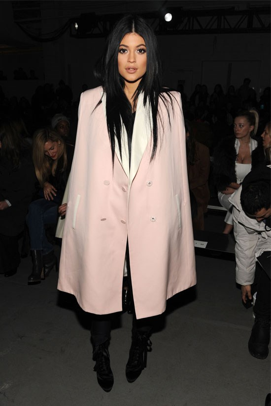 Kylie attends the 3.1 Phillip show during Mercedes-Benz Fashion Week in New York.